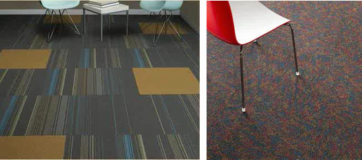 You Have Two Options With Commercial Carpet Broadloom And Tile Pictured On Right Is The More Traditional Option Typically A